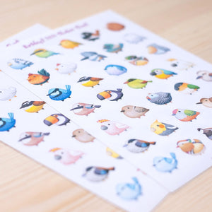 Birbfest sticker sheet