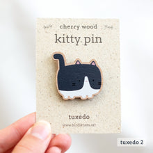 Load image into Gallery viewer, Wooden cat pin