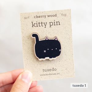 Wooden cat pin