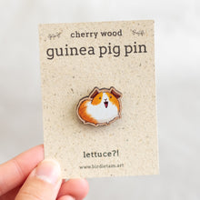 Load image into Gallery viewer, Wooden guinea pig pin