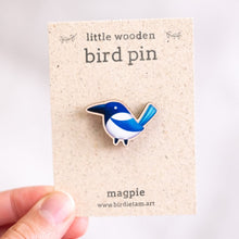 Load image into Gallery viewer, Wooden bird pin