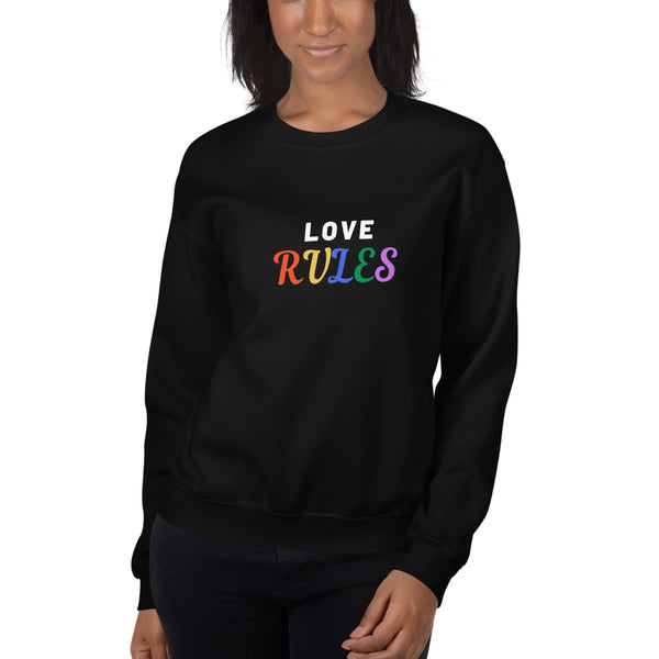 Love Rules Unisex Sweatshirt