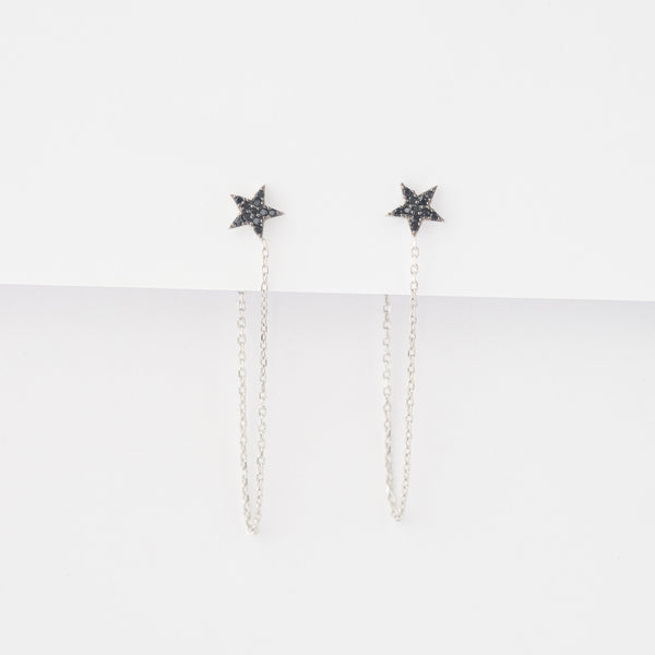 Aros Black Star plata