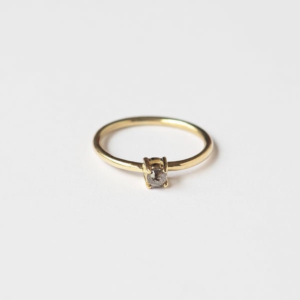 Anillo Salt & Pepper Oro amarillo 18k