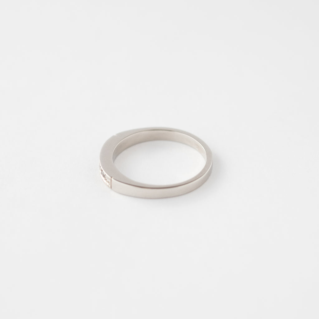Anillo Midi Cintillo Salt and Pepper platino