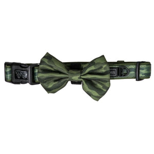 "Dog Collar & Bow Tie ""Camouflaged"""