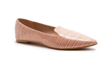 Load image into Gallery viewer, Nude Croco Ballerina Flat