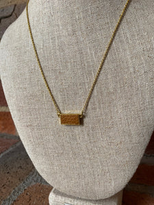 Leather Bar Necklace