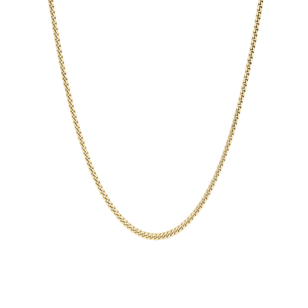 Micro Cuban Link Chain Necklace