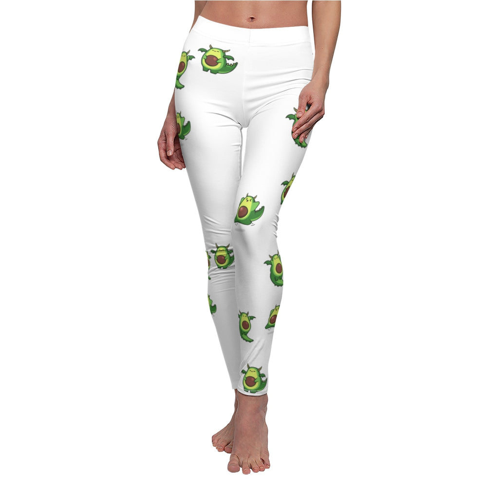Avocado Dragon Women's Cut & Sew Casual Leggings