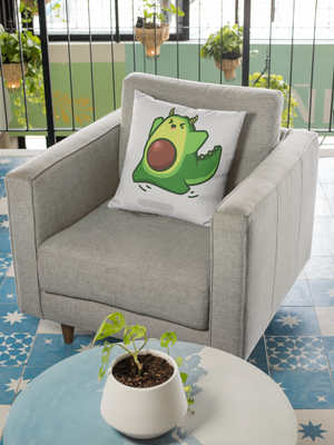 Avocado Dragon Spun Polyester Square Pillow