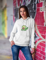 Avocado Dragon Pullover Hooded Sweatshirt
