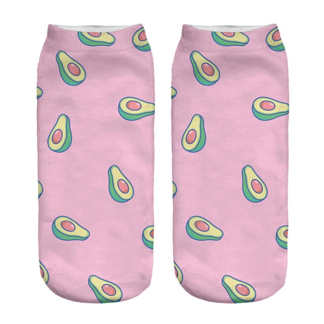 Avocado Ankle Socks - Pink