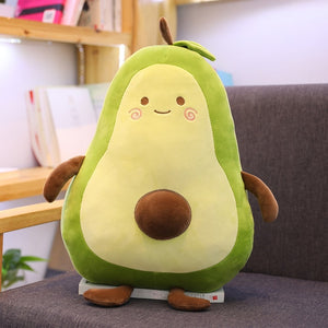 Avocado Fruits Plush Cushions - Multi Sizes