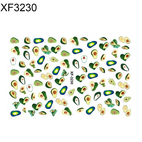 Waterproof Avocado Leaf Nail Stickers