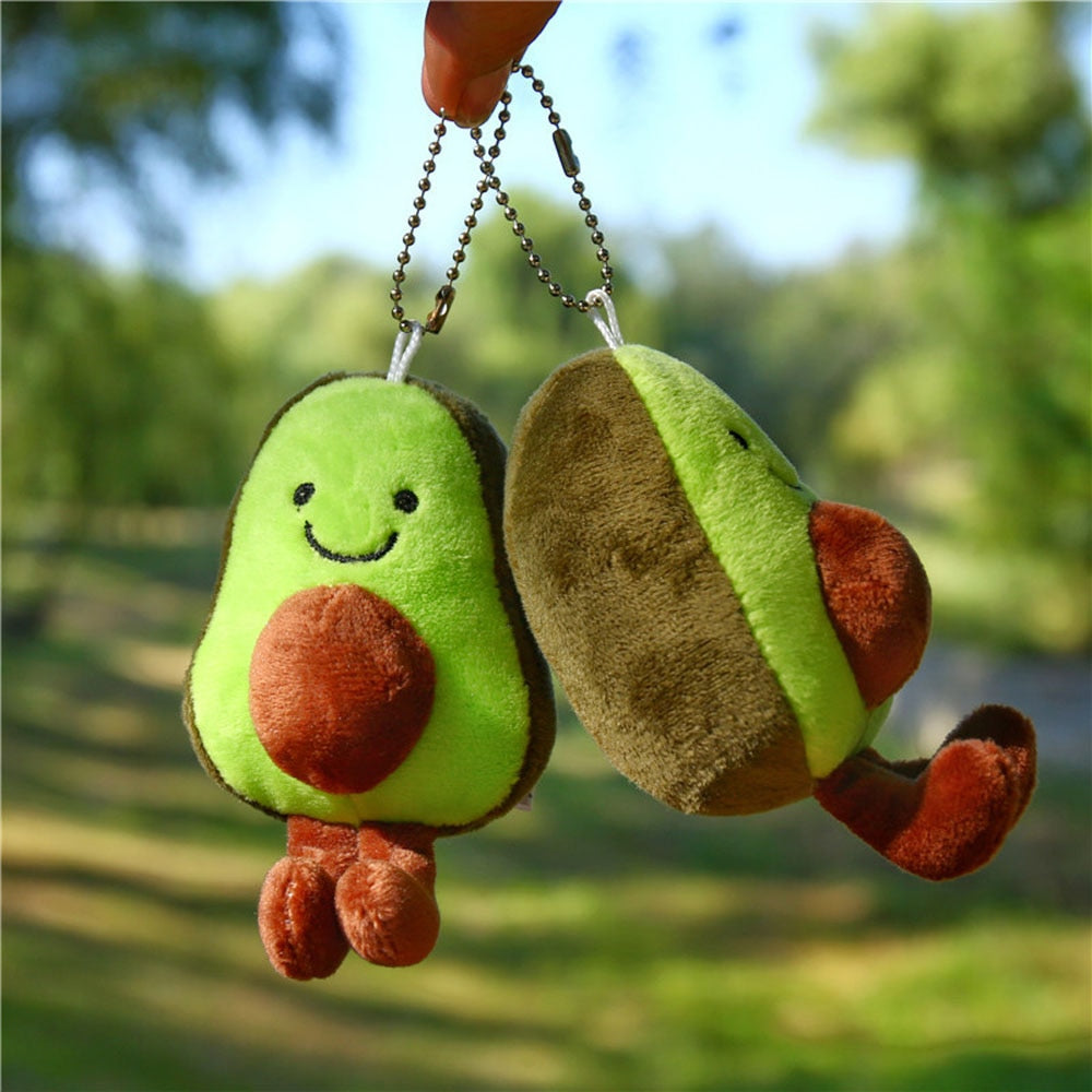 Adorable Kawaii Avocado Plush Key Chain
