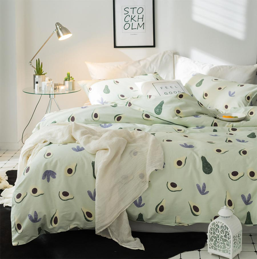 Soft Green Duvet Set - 4 pc set