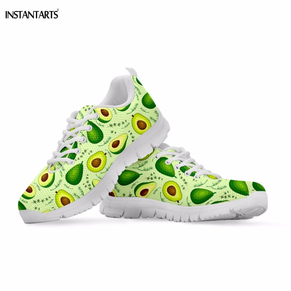 Women's Tropical Fruit Avocado Jogging Shoes