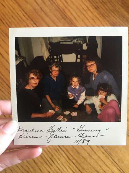 Picture of 2 grandmas, mom, and 2 sisters