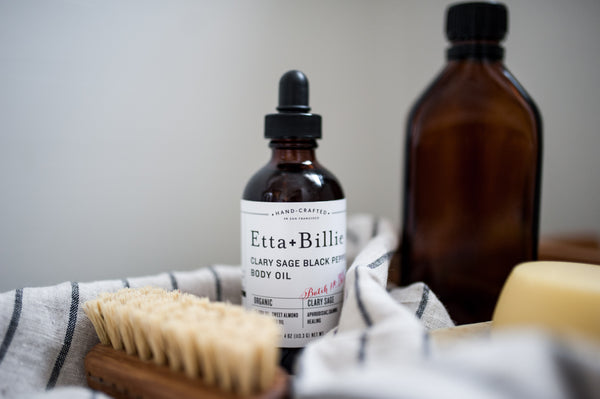 etta and billie bath and body oil at home spa experience
