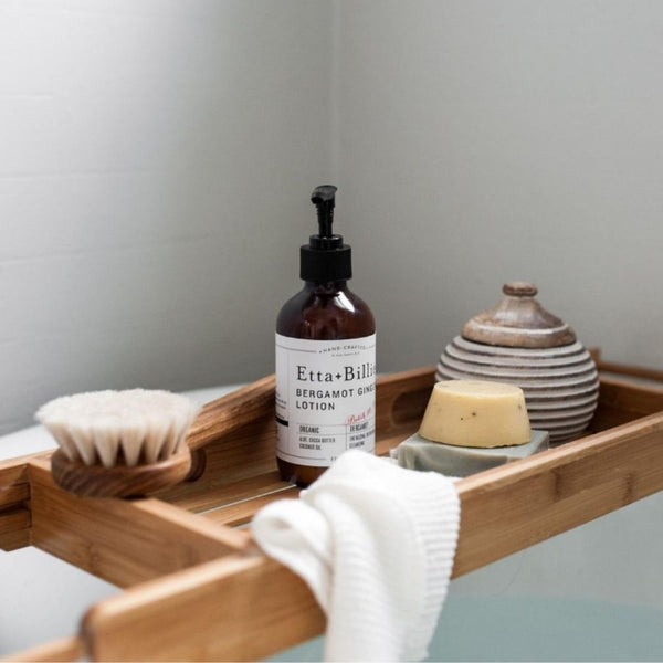 Etta + Billie Bergamot Ginger natural body lotion with soothing aromatherapy