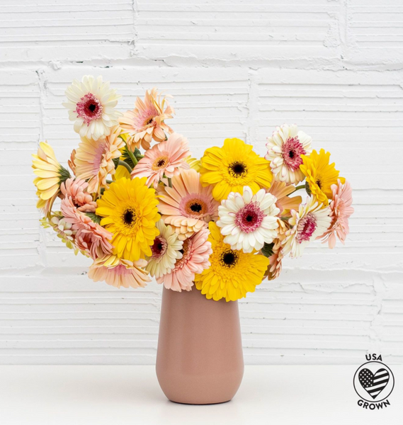 floral arrangement from farm girl flowers