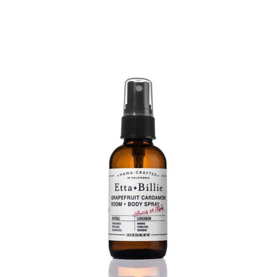 Grapefruit Cardamom Room and Body Spray in 2oz Glass Bottle