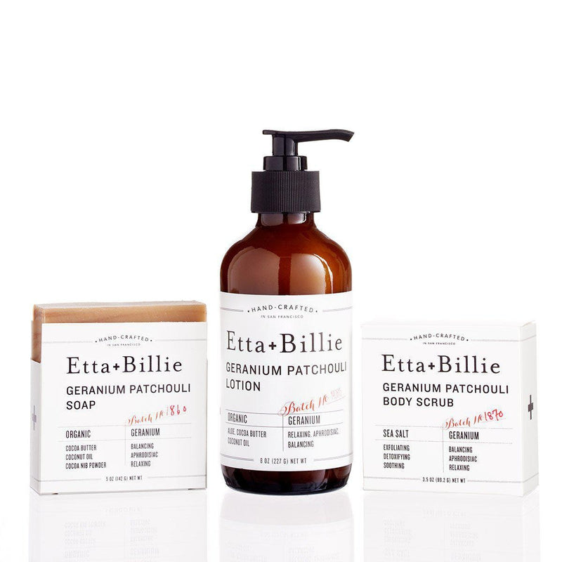 Geranium Patchouli Gift Set-Tangible-Etta + Billie