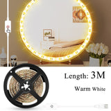 Wall Lamp LED 16W Makeup Mirror Vanity Led Light Bulbs Hollywood Style Led Lamp Touch Switch USB Cosmetic Lighted Dressing table