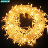 220V LED Fairy Light Christmas Outdoor String Lights Garland 10M 20M 30M 50M 100M Waterproof Wedding Party Tree Holiday EU Lamp