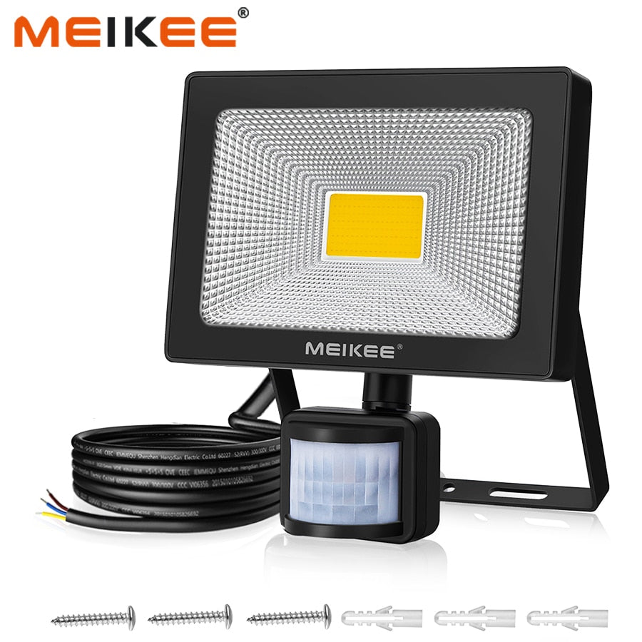 50W LED Flood Light with Motion Sensor Waterproof AC110V 220V PIR LED Floodlight Outdoor Projector Lamp Spotlight for Garden