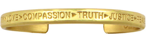Gold Compassion Bracelet (Brass)