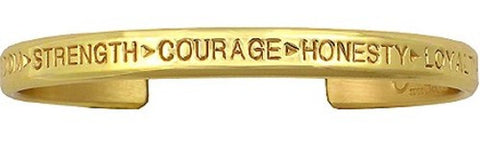 Gold Courage Bracelet (Brass)