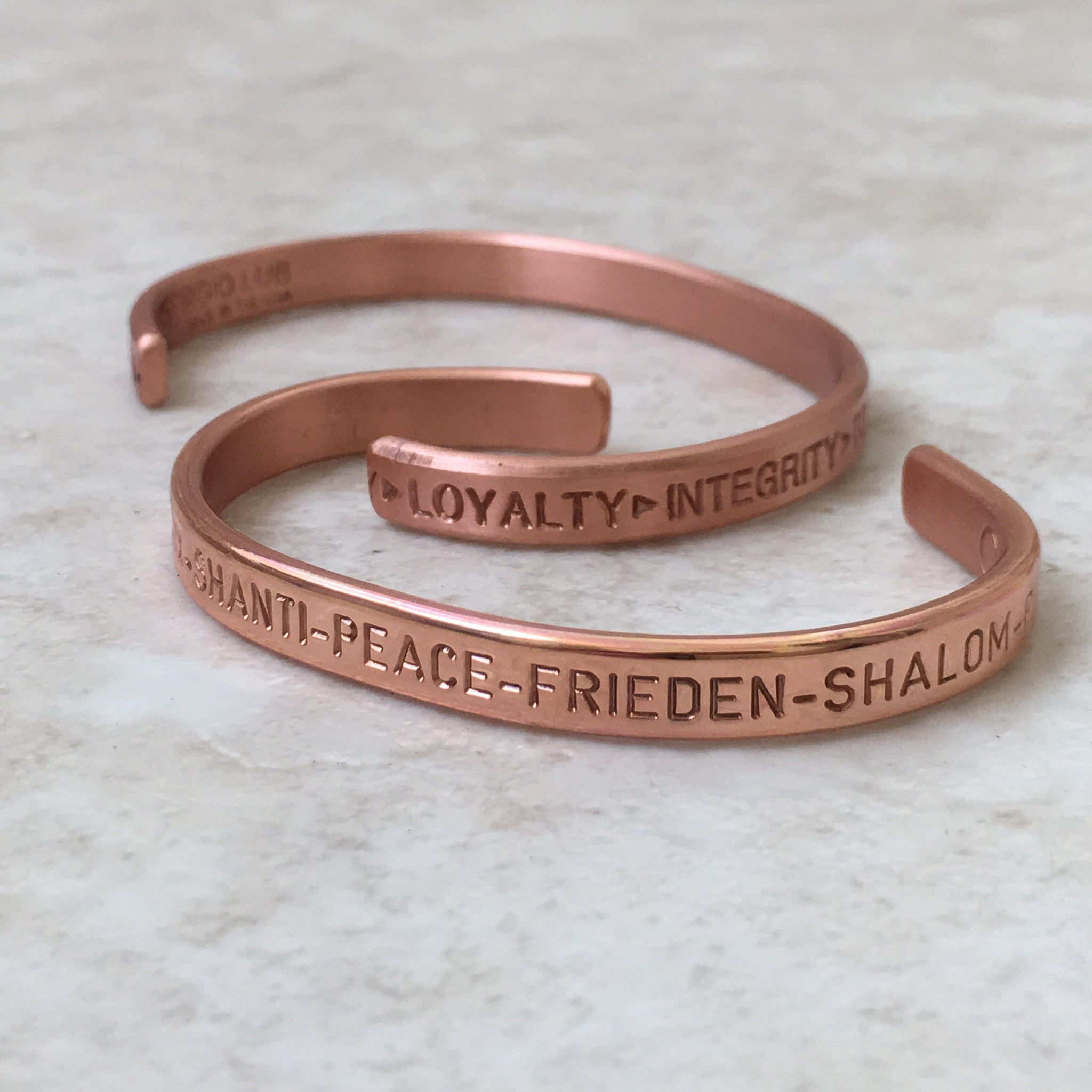 Copper Peace Bracelet