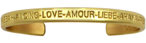 Gold Love Bracelet (Brass)