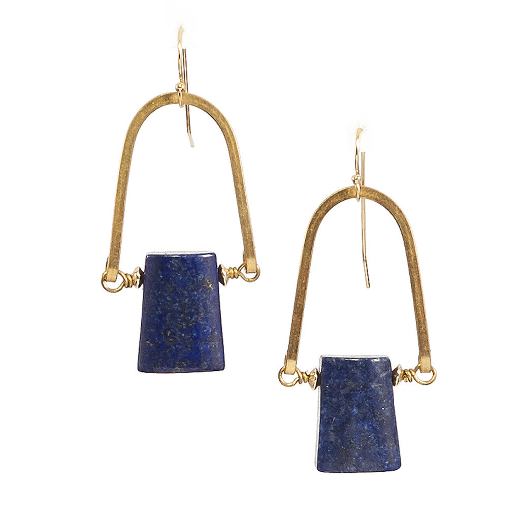 Lapis Lazuli Rise Earrings
