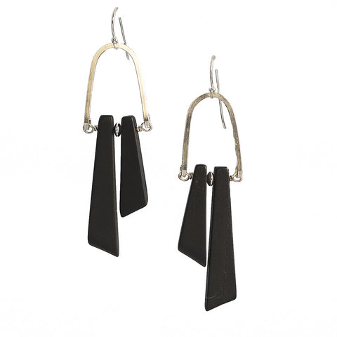 Stonehenge Onyx Rise Earrings in Sterling Silver