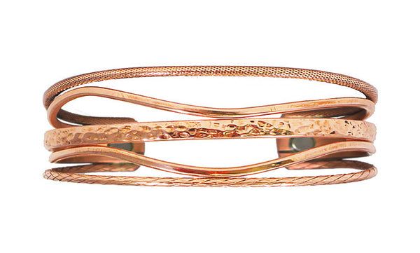 """Copper Tide""... Pure Copper Magnetic Bracelet... Collaboration between Sonia & Sergio Lub"