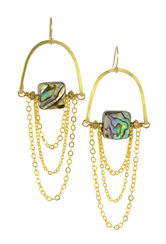 """Abalone Squared"" - Gold Brass... MoonRise Collection by Sonia Lub"