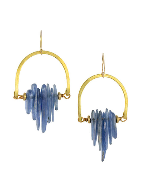 Neo Tribal Kyanite Earrings