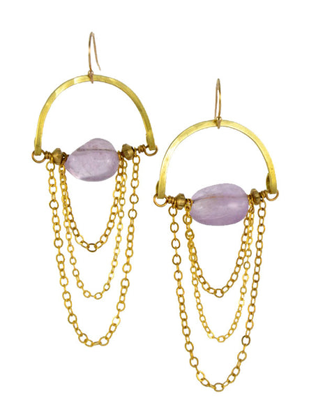 """Lavender Amethyst"" - Gold Brass... Rise Collection by Sonia Lub"