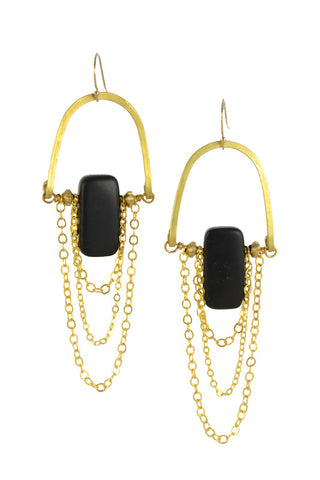 """Matte Onyx"" - Gold Brass... Rise Collection by Sonia Lub"