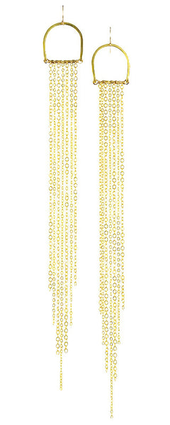 """Sun Rays"" Long Gold Brass... Rise Collection by Sonia Lub"