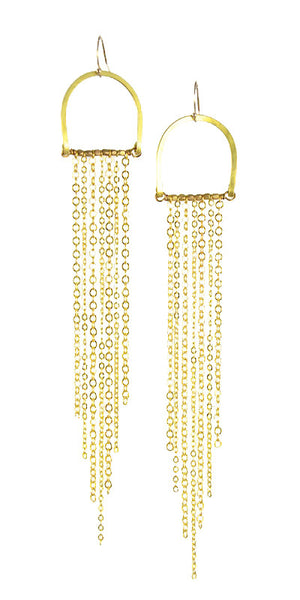 """Sun Rays Medium"" - Gold Brass... Rise Collection by Sonia Lub"