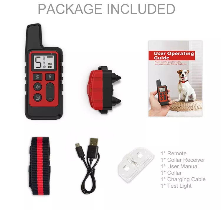 Package list of the dog training collar