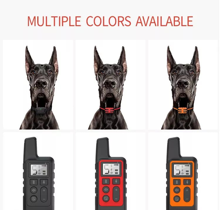 Three colors of dog shock collar