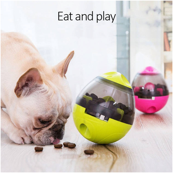 Interactive Pet Toy Ball & Food Dispenser For Dog & Cat