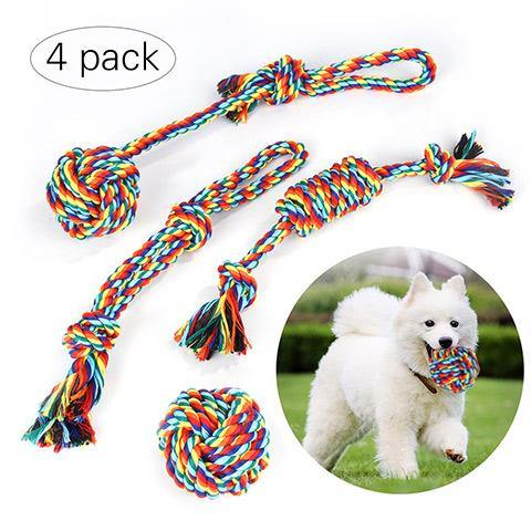 Colorful Cotton Rope Toys for Dogs