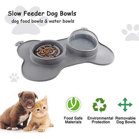 Dog Bowls Slow Feeder for Pet 3-in-1