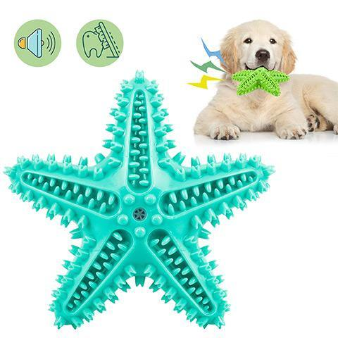 Starfish Sucker Dog Toy Cleaning Toothbrush for Dog